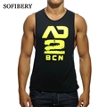SOFIBERY Men's Clothing Men's Tops & Tees,Men's Tank Tops  Hot New Low-cut T-shirt Tank Tops, Men's sexy vest, falling prices