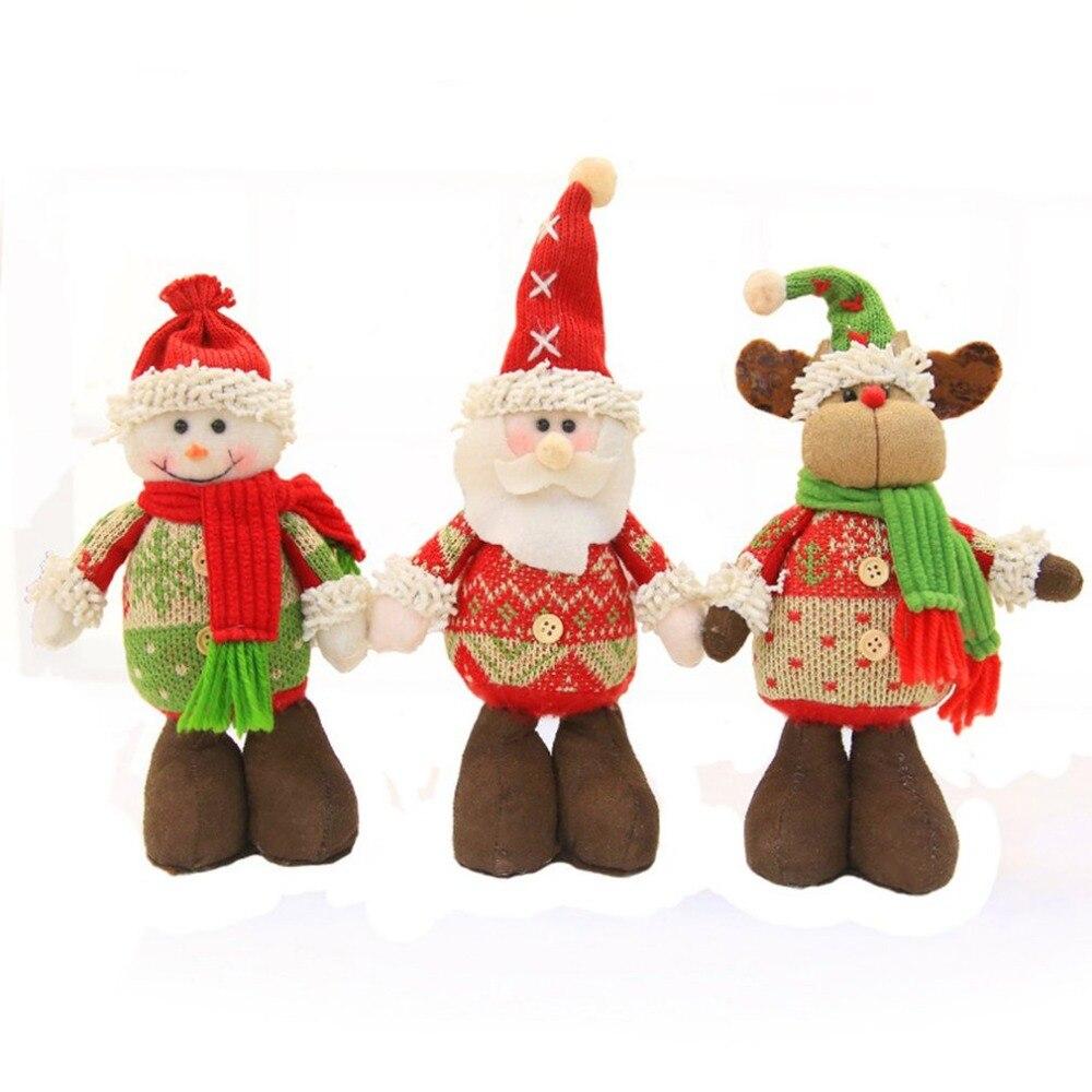 Christmas Santa Claus Elk Snowman Toy Doll Christmas