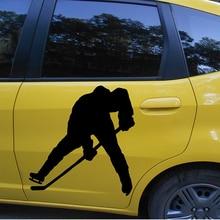 2X 2017 hot car-styling  Ice Hockey Player Sports Car Sticker For Cars Door Side Truck Window Rear Windshield Vinyl Decal  JDM все цены