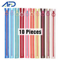 10Pieces 20cm Resin Zippers for Sewing Colorful Closed End Nylon Coil Zippers Tailor Sewing Craft Handwork for Bag Garment