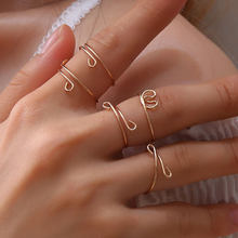 Gift For Women 5 Pcs/Set Gold Color New Arrival Knuckle Ring Rings Simple Set Bijoux Curving Adjustable Elegant Finger Ring(China)