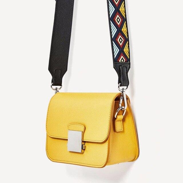1b54018630 Fashion Brand Women Messenger Bag Yellow Mini Crossbody Bags Two Shoulder  Straps Designer Handbags High Quality Ladies