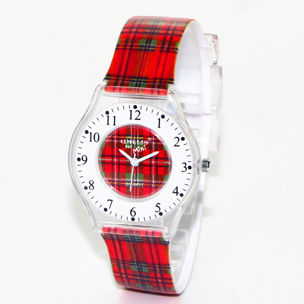 Latest Styles Ultra Thin Red Lattice Design Women Waterproof Round Dial Wristwatch Girls Sports Quartz Watches Clock Relogio latest styles autumn