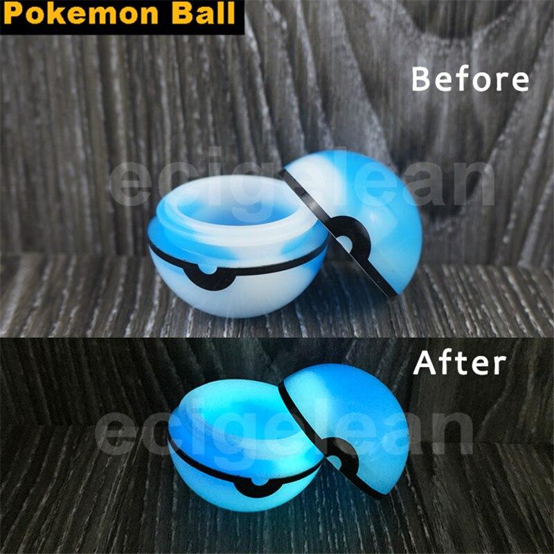 Post 2pcs*Silicone Pokemon Ball Silicone Oil Container Poke
