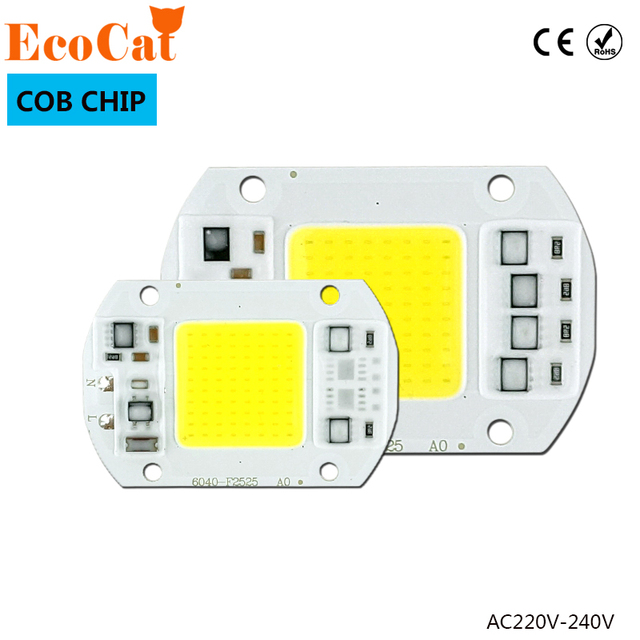 LED Lamp Chip 220V 50W 100W 30W 20W 10W COB LED Matrix 240V Smart IC Driver Fit For DIY Cold Warm LED Spotlight Floodlight