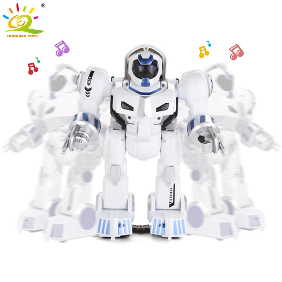 HUIQIBAO SPEELGOED Vervorming intelligente RC Robot met muziek Dans Elektronische Smart control afstandsbediening Speelgoed voor Kinderen Verjaardagscadeau - 3