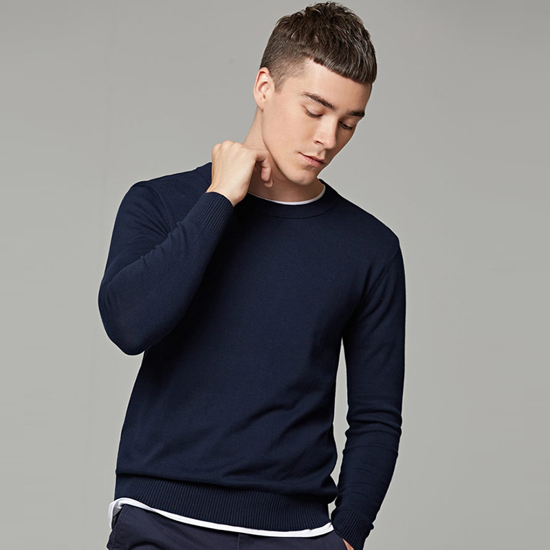 Markless Winter Sweater Men Plus Size 6XL V-neck Mens Sweater O-neck Pullover Men Cotton Knitting Pull Homme Sueter Hombre
