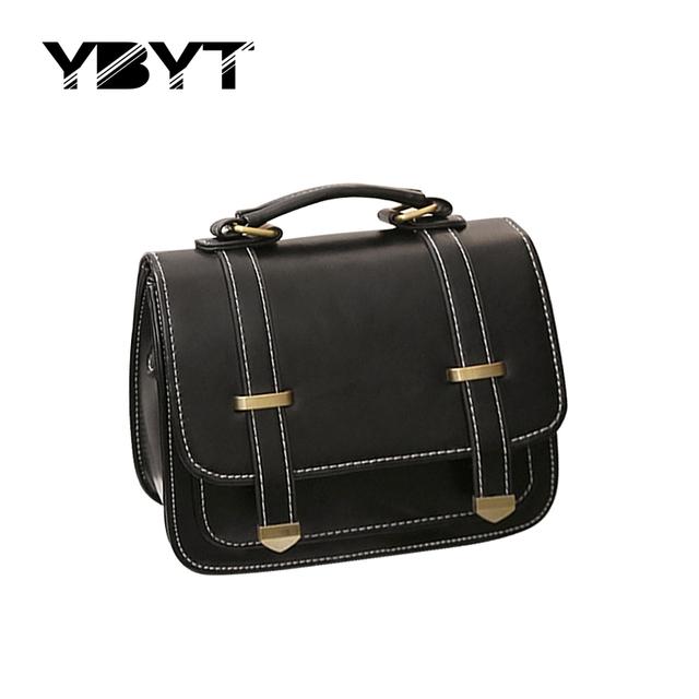 Ybyt marca 2017 cinto de decoração vintage casual totes bolsas hotsale mulheres satchel bolsa de ombro coringa senhora crossbody sacos do mensageiro