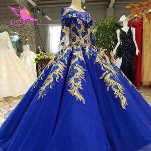Image 2 - AIJINGYU אופנה חתונה שמלות יפה שמלות כדור סין מערבי כלה שמלות את שמלת חתונת שמלה עם Sheer חזרה