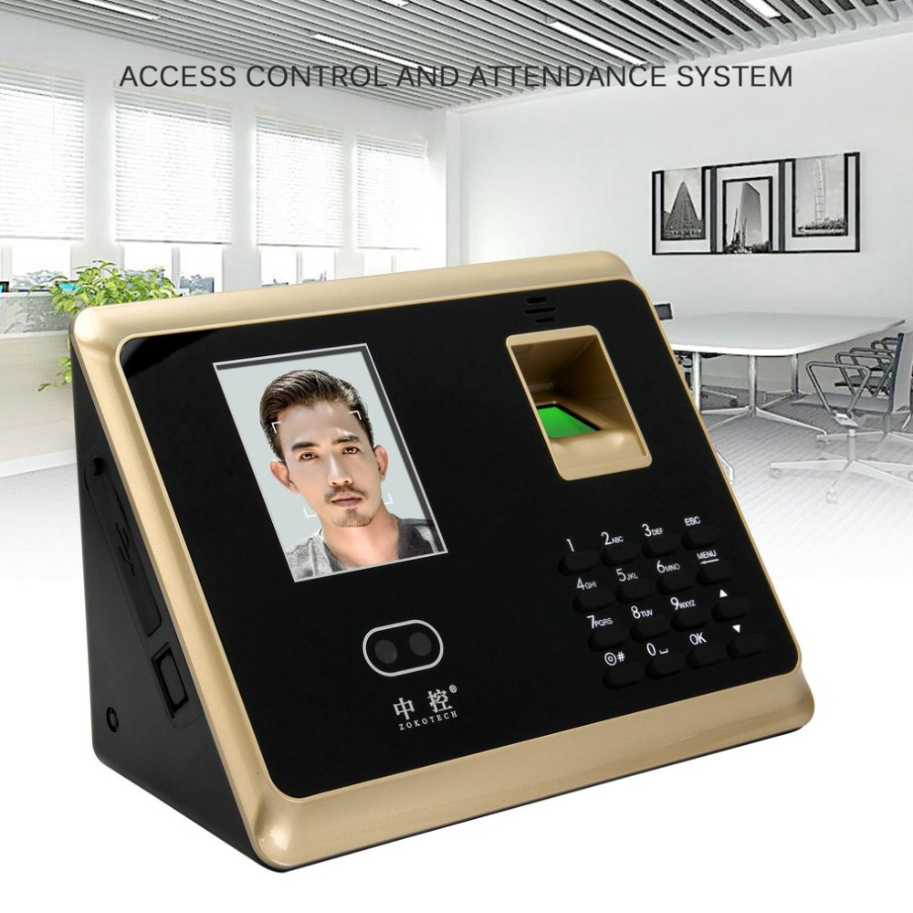 ZK-FA20 Face Recognition Attendance Machine Fingerprint Management Machine Employee Checking-in Payroll Recorder Access Control face fingerprint password attendance machine employee checking in payroll recorder face recognition time attendance clock