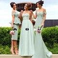 2017 Best Mint Green Bridesmaid Dresses Short Long Wedding Guest Dress Elegant Bridesmaid Gowns Vestido De Festa Curto Gorgeous