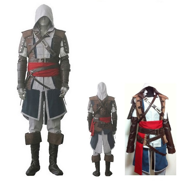Free Shipping EMS/DHL Adult Men male Assassins Creed IV 4 Black Flag Edward  Kenway costume cosplay Halloween Anime Uniform Suit-in Holidays Costumes  from ...