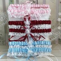 Women's Sexy Lingerie Garter Stocking Lace Garter Belt Legs Ring Harness Women Belts Bow Wedding Bridal Garter White Red