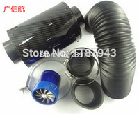 RACING intake bellows kit / car air filter / mushroom head / intake modified high flow of pure carbon fiber air box