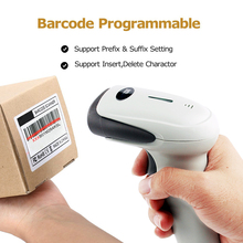 Wireless Laser Barcode Scanner Long Range Cordless Bar Code Reader with 100Meters(330ft) Transfer Distance