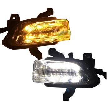 For Jeep Renegade 2pcs Left & Right Led Light White Daytime Running Light Amber Turn Signal Lamp fit for Jeep Renegade 2015-2018