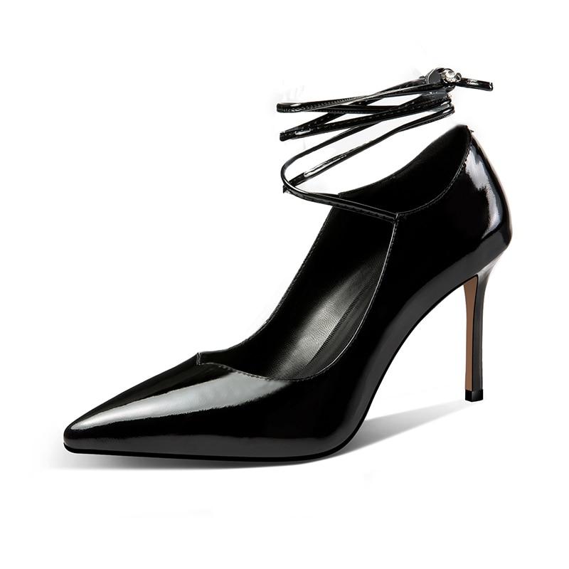 Moda Black 2019 Mujeres Bombas Altos Banda Zapatos La Verano Estrecha apricot De Fiesta Oficina Punta Las Negros Furtado Arden Tacones wXqn0UO4w