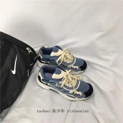 2018 1 Deporte Chaussures Coréenne 2 Zapatillas Automne Casual Étudiantes Sauvage Harajuku De Course Style Rétro w7pqw6rUx