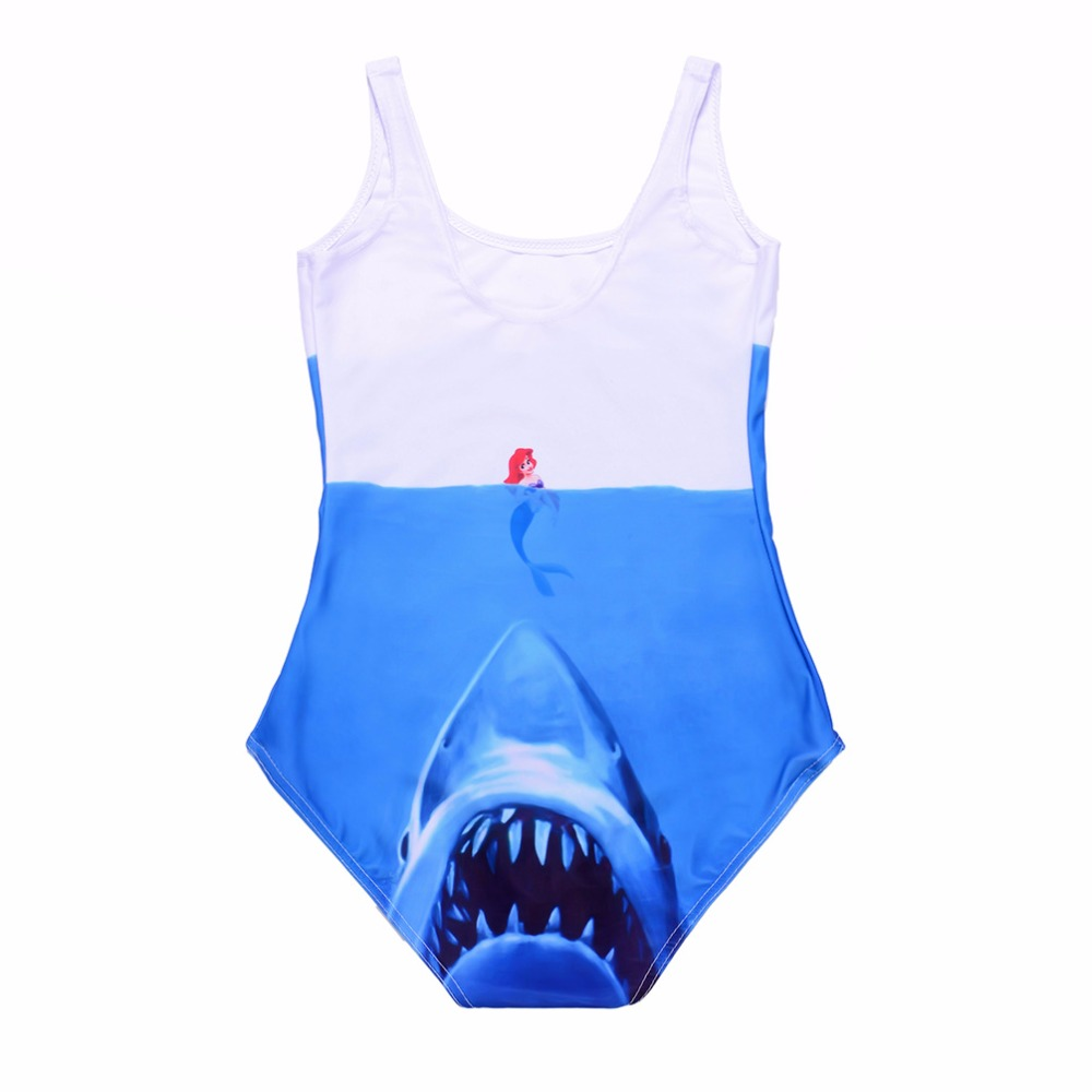 New Blue Sea Shark Sexy Women Swimsuits Red Blue Mermaid Sexy One Piece Bodycon Suits 3 Patterns S To 4xL 13