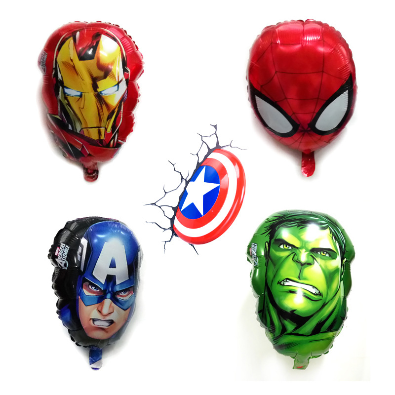 4pcs/lot 16 inch The Avengers foil balloons super hero helium globos Captain America superman ballon for boy's birthday supplies