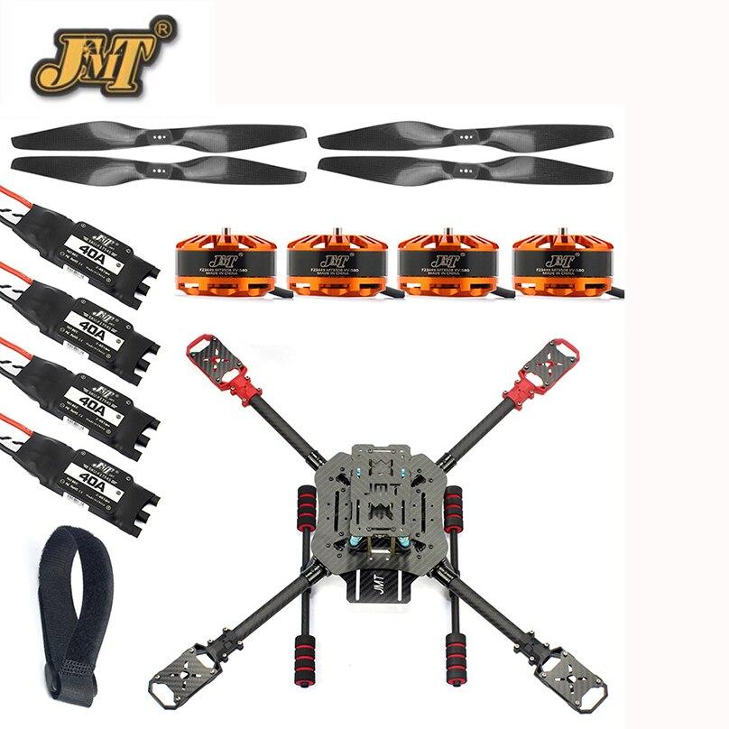 JMT DIY X4 560mm Carbon Fiber Frame Kit Foldable / Foldable Landing Gear 3508 580KV Motor 40A ESC 1455 Propellers RC Drone