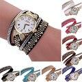 8 Цветов Дешевые Роскошные Пастырской Старинные Часы Кристалл Алмаза Ремень Повседневная Часы Аналоговые Женщины Дамы Кварцевые часы 2016