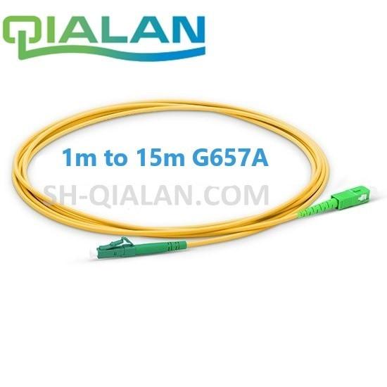 Câble de raccordement de Fiber optique LC au câble optique de Fiber de SC APC Simplex 2.0mm câble de raccordement de Fiber monomode de PVC