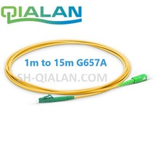 Optical Fiber Patchcord LC TO SC APC Fiber Optic Cable Simplex 2.0mm PVC Single Mode Fiber Patch Cable APC Fiber Jumper недорого