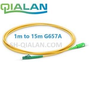 Image 1 - Optyczne patchcordu światłowodowego LC do SC APC światłowodowe kabel Simplex 2.0mm pcv światłowód jednomodowy kabel krosowy APC jumper światłowodowy