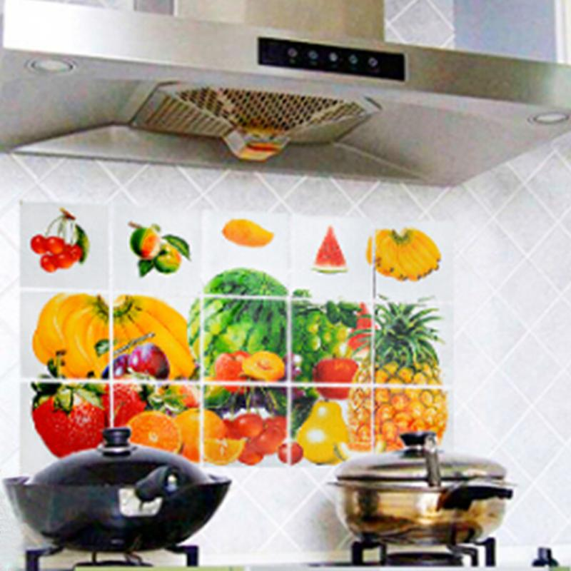 Online Shop Fruits Kitchen Waterproof Sticker Bathroom Tile For Wall  Sticker Home Decor | Aliexpress Mobile Part 41