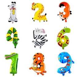 30-50 см 16 дюймов животное мультфильм номер фольги Воздушные шары вечерние шляпы цифры воздушные шарики для день рождения вечерние для детей