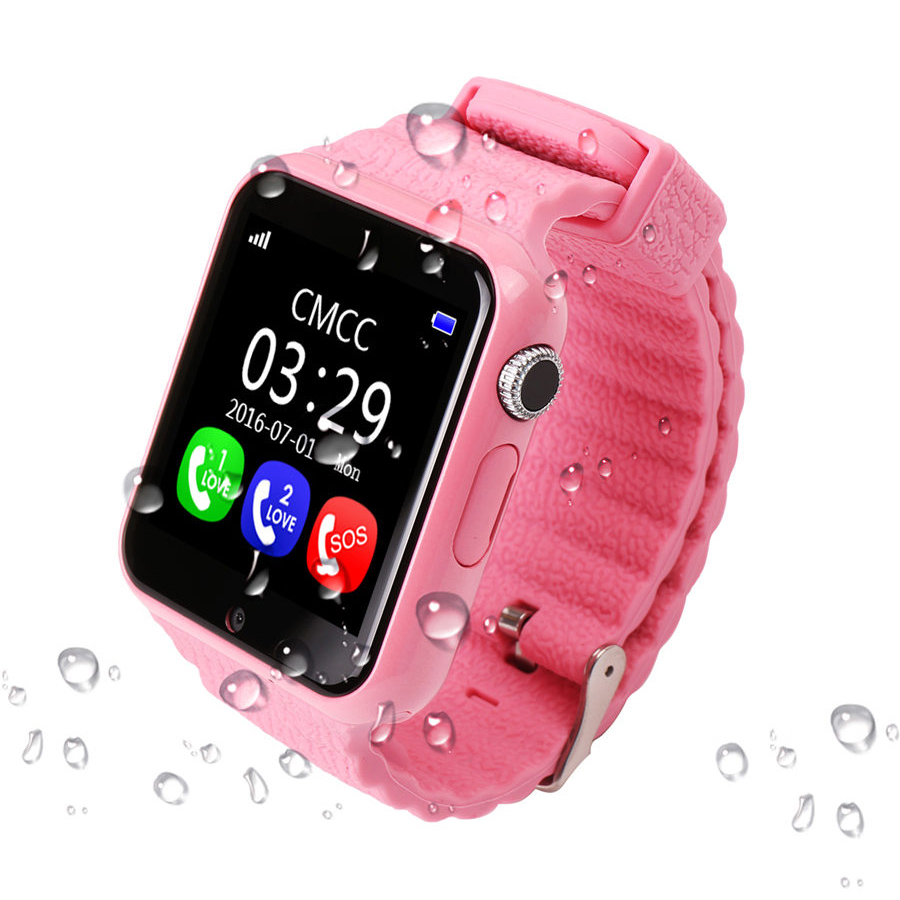 Children GPS Tracker Smart Watch V7K 1.54'' With Camera Facebook Kids SOS Emergency Security Anti Lost For Android Watch PK Q90 children s smart watch with gps camera pedometer sos emergency wristwatch sim card smartwatch for ios android support english e