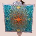 [15% OFF] Anacardo y Coco 90 cm Elegante abrigo de Las Mujeres de seda Pura Bufanda de Seda Cuadrada grande, satén de crepe de seda liso cuadrados bufandas