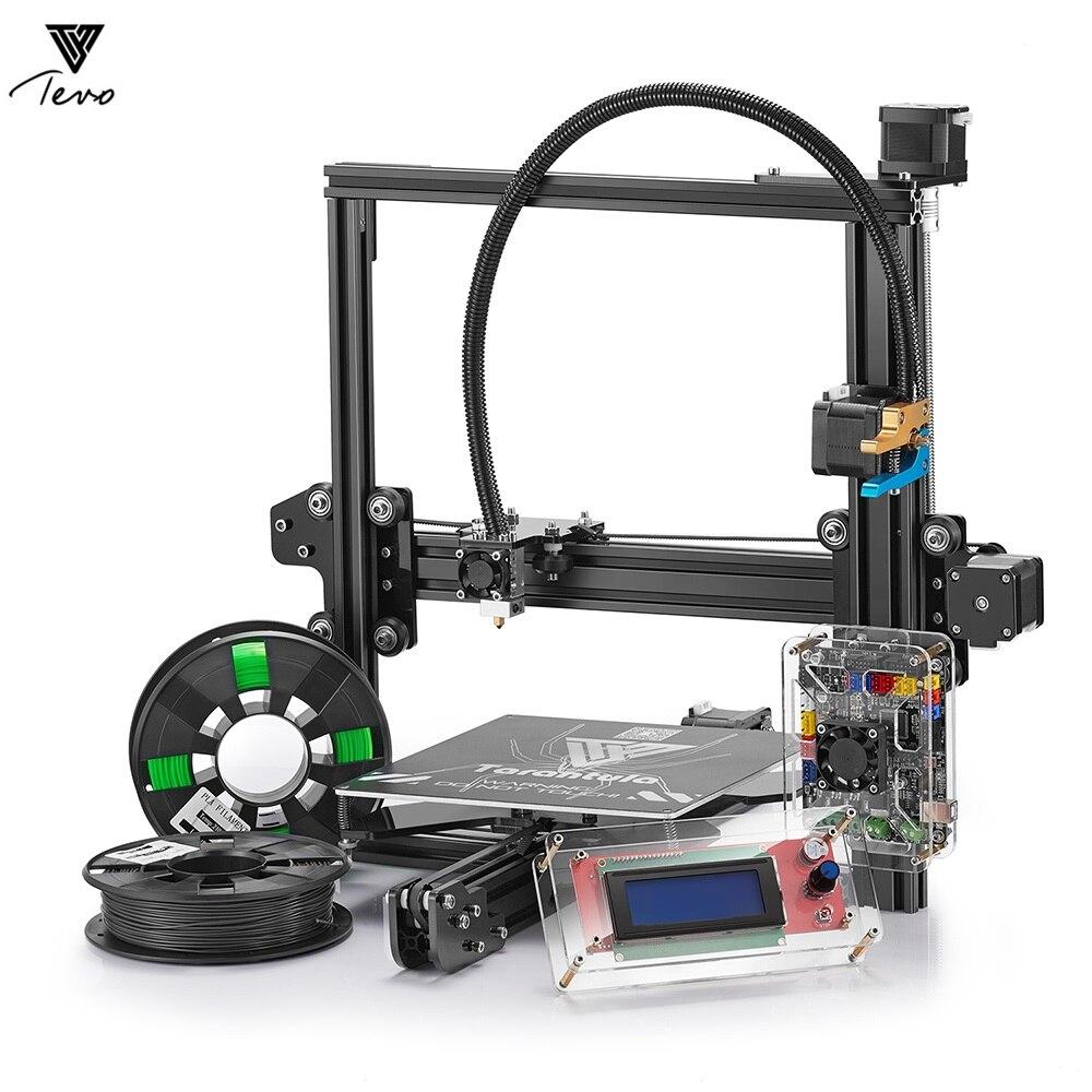 Tevo Tarantula Prusa I3 3D imprimante kit de bricolage cadres en aluminium double extrudeuse grande taille d'impression avec grand lit de chaleur et carte SD 8 GB