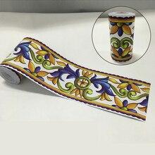 Papel pintado de Viña clásico Vintage con azulejo para cocina y baño adhesivo autoadhesivo para puerta EZ071
