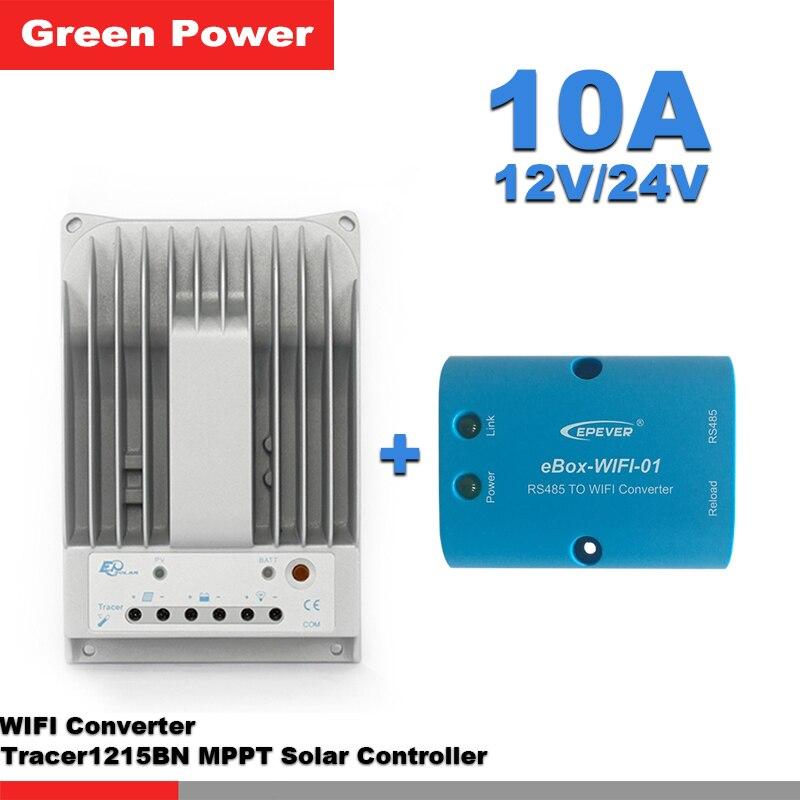 Tracer1215BN 10A 12 V/24 V MPPT REGOLATORE di Carica Solare con eBox modulo WIFI collegare pannello solare di carica della batteria per il sistema solareTracer1215BN 10A 12 V/24 V MPPT REGOLATORE di Carica Solare con eBox modulo WIFI collegare pannello solare di carica della batteria per il sistema solare