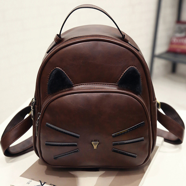 Kawaii Cat Ear Backpack Black Preppy Style School Backpacks For Teenage Girls College Style Casual Backpack Sac Mochilas on Sale