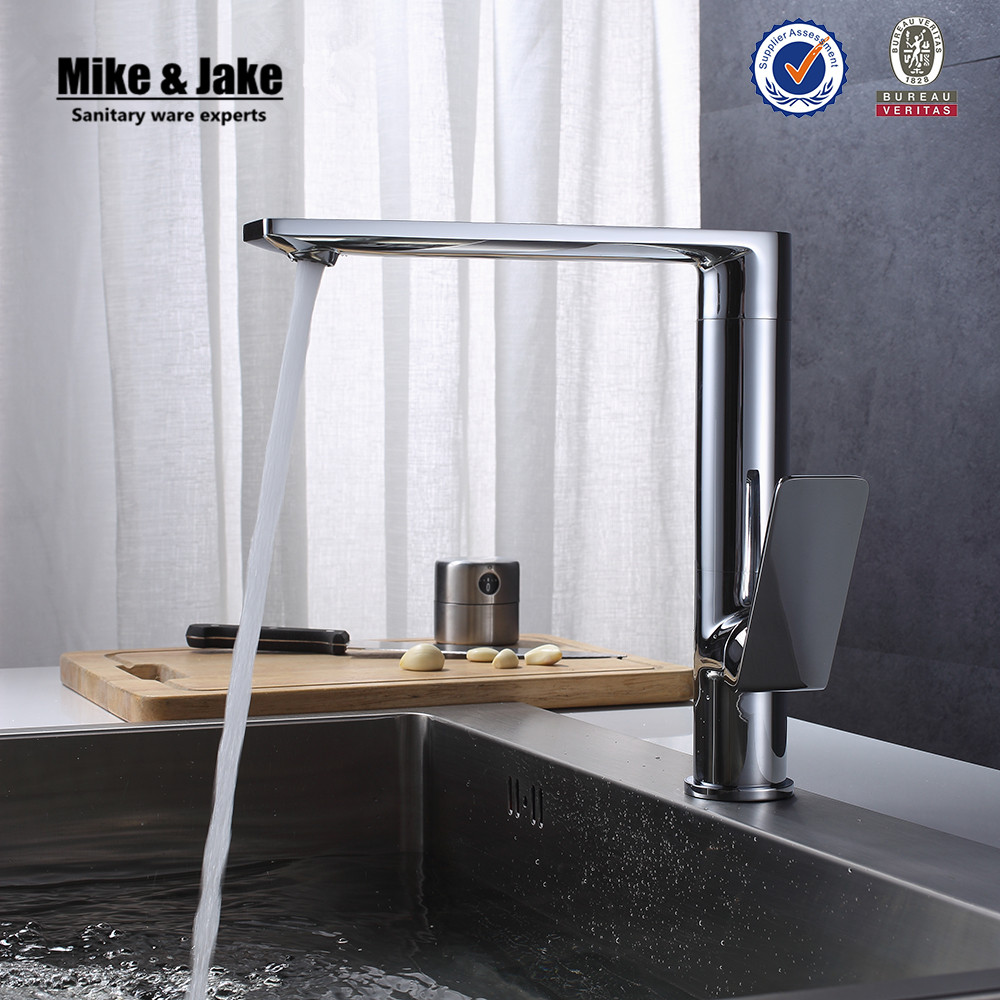 US $59.39 10% OFF|360 rotating Chrome Contemporary kitchen faucets Basin  sink brass spray kitchen mixer water tap Brass Kitchen Faucet MJF201071-in  ...