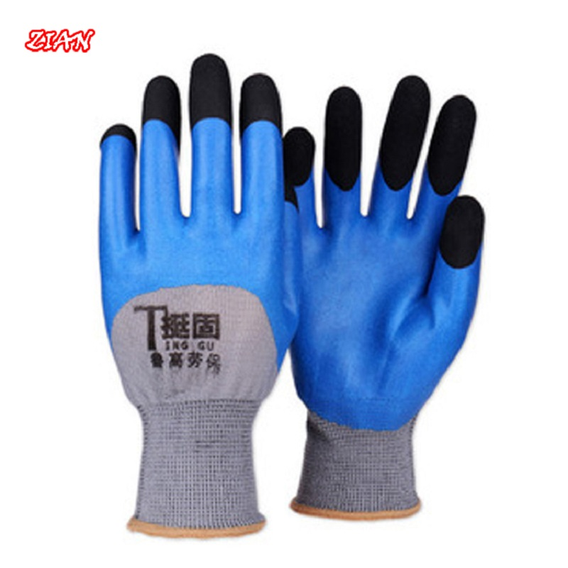 5/12 Pairs High Safety Protective Gloves Work Gloves Microfiber Wear-resistant Sweat-absorbent Breathable Processing Gloves