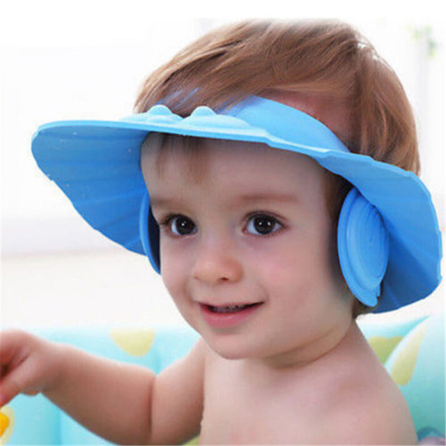 296db808325 Hot Adjustable Wash Head Hair Waterproof Cap Baby Kids Soft Shampoo Bath  Shower Cap Hat Wash
