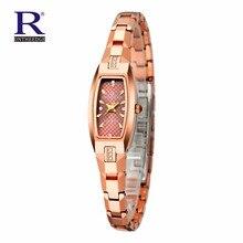 РОН Часы женщины моды luxury Brand Топ золото стали Вольфрама кварцевые Часы женщины наручные часы погружения 200 м часы relógio Подарок
