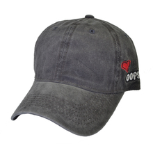 denim Dad Hat Solid Washed Baseball Caps Women Men Bad Hair Day OOPS Letter Embroidery Couple Heart Cap Trucker