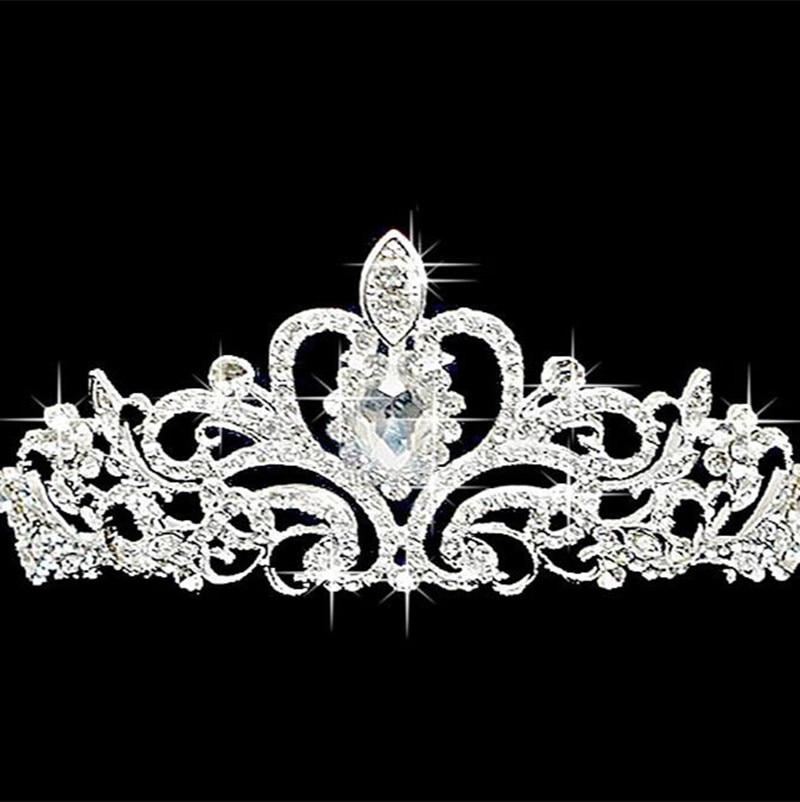 Free shipping Bridal Crystal font b Tiara b font Wedding font b Hair b font Accessories