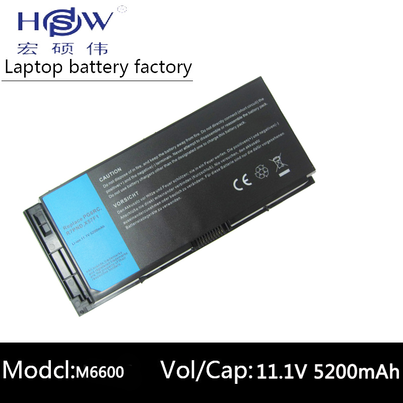 HSW Battery For Dell Precision M6600 M6700 M4600 M4700 M4800 M6800 FV993 FJJ4W PG6RC Battery T3NT1 PG6RC R7PND OTN1K5 bateria original laptop battery for dell precision m4600 m4700 m4800 t3nt1 n71fm fjj4w 65wh