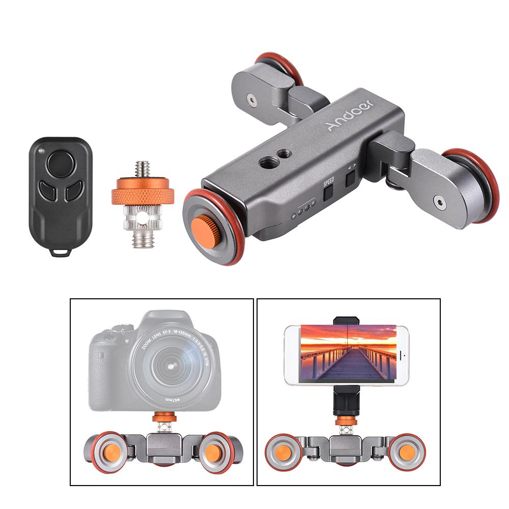 L4 Autodolly 3 Speed Adjustable Remote Control Electric Motorized 3-Wheel Pulley Car Slider Rolling Skater for DSLR PhoneL4 Autodolly 3 Speed Adjustable Remote Control Electric Motorized 3-Wheel Pulley Car Slider Rolling Skater for DSLR Phone