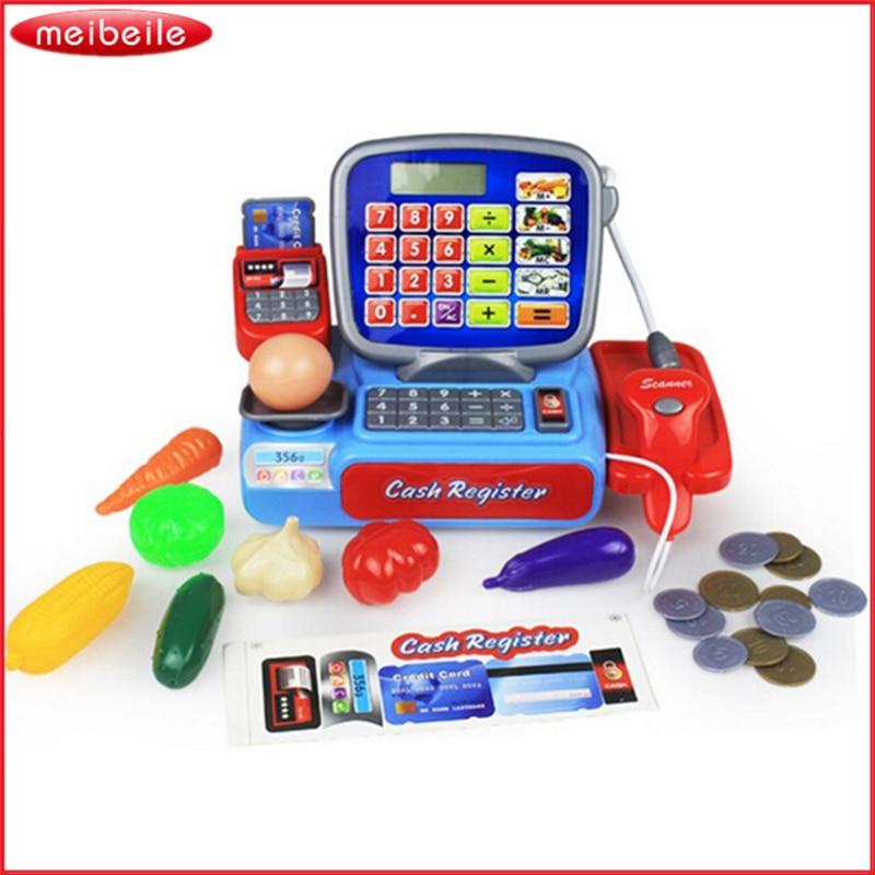 1:12 Supermarket Shopping Grocer Play Teaching Cash Register Simulation miniatur