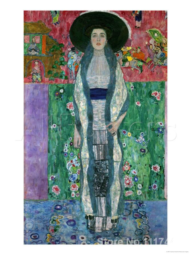modern art portrait mrs adele bloch bauer ii gustav klimt oil painting replicas high quality. Black Bedroom Furniture Sets. Home Design Ideas