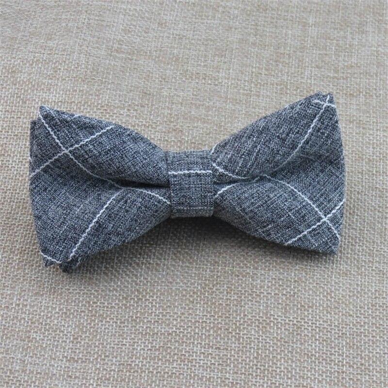 Mantieqingway Wedding Tuxedo Plaid Bowtie Ties for Mens Cotton Polyester Bow Ties Men Gravatas Slim Bowties