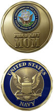 low price Custom coin  hot sales U.S. Navy / Proud Navy MOM Challenge Coin High quality metal coins  FH810190 low price custom coin hot sales u s navy ethos challenge coin high quality metal coins fh810189