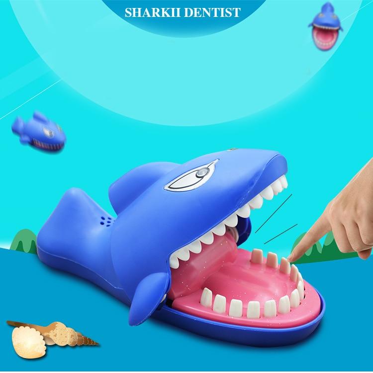 Shark Bite Finger Toy Funny Sound light Snapping Family Challenge Kids Push Plastic Design Educational Crocodile Teeth Game
